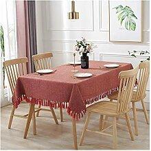 Tablecloth WHQ Tischdecke mit Fransen Tischdecke