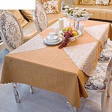 Tablecloths DE Hotel Mode Tisch Tuch Couchtisch Tuch,Hotel Rechteckige Tisch Tischdecke-A Durchmesser240cm(94inch)