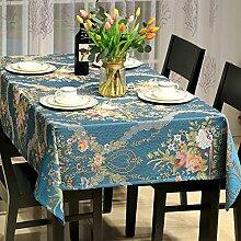 Tablecloths DE Modernes europäisches tisch tuch,stoff mahjong tuch,längliche tischdecke-C 135x180cm(53x71inch)