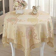 Tablecloths DE Tischdecke Tischdecke Tischdecke,Rechteckige Abdeckung Tuch Abdeckung Handtuch Tischdecke Runde Tischdecke-A 200x200cm(79x79inch)