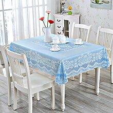 Tablecloths European Round Table,Pvc Tischdecke,Wasserdichte Öl-freies Plastik-tischtuch-A 137x180cm(54x71inch)