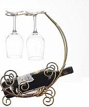 Tabletop Retro Wein Display Rack Eisen 2 Weinglas