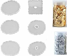 Tablett Epoxidformen, Untersetzer, Harzform, 1 Set