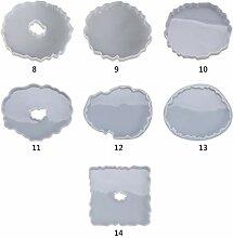 Tablett Epoxidharzform, Untersetzer, Kunstharz,