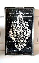 Tablett Kerzentablett Serviertablett Motiv Lilie Tischdeko Geschenkidee Kunststoff Edel ca. 39cm x 24cm