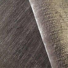 Tabley 'Trüffel Uni': Braun Samt Polstermöbel Sofa Kissen Flammschutzmittel Stoff Material aus loome Stoffe, Tabley 'Truffle Plain' : Brown, per metre