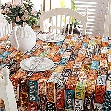 Taboeoe Alle Baumwolle Heavy Canvas Party Urlaub Kaffee Tisch Tischdecke Gelb 140 X 160