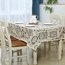 Taboeoe Bettwäsche Baumwolle Europäischen Holz Tischdecke Tischdecke Home Hotel Tagung, Karte, 100 * 140