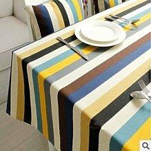 Taboeoe Das Tuch Tuch Baumwolle Tischtuch Mittelmeer Mittelmeer Gestreifte Tuch Mode Tabelle Tuch Tuch Frische Kleine Büro, 90*90