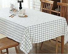 Taboeoe Einfache Europäische Stil Baumwolle Tuch Mode Tischdecke Tischdecke, White Box, 50 * 80