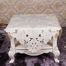 Taboeoe Einrichtung Der Europäischen Tabelle Tuch Tuch Stickerei, Bestickt Satin Durchbohrt 12,85 * 85,