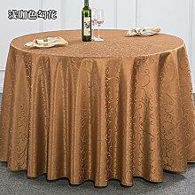 Taboeoe Esszimmer Tischdecke, Hotel Tischdecke, Restaurant Runde Tischdecke, Quadrat Runde Tischdecke Home, Licht/Tick, 1,4 * 1,8 Meter