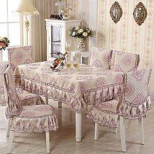 Taboeoe Europäische Tischdecke Kissen Neuen Anzug Tuch Hüllen, Light Pink, Kissen