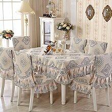 Taboeoe Europäische Tischdecke Kissen Neuen Anzug Tuch Hüllen, Hellgrau, Tischdecke 125 * 175 Cm