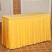 Taboeoe Farbe Leinwandbindung Tischdecke Tabelle, Tischdecke, Ausstellung, Zeichen In Der Tabelle, Tabelle, 034 Gelb, 130*40*75