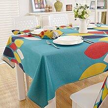 Taboeoe Haushalt Tischdecke Dicke Baumwolle Drucken Pastorale Haushalt Rechteck Pfund Baumwolle Tuch Tuch, Mode Farbe, 200 * 140 Cm
