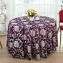 Taboeoe Hotel Restaurant Tischdecke, Blütenfarbe, Eindickung, Einfache, Deep Purple, Rund 3 Meter