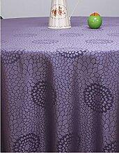 Taboeoe Hotel Round Table, Tischdecke, Stoff Kunst Und Veranstaltungsräume, Tischdecke, Table Rock, Violett, 140 * 180