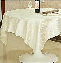 Taboeoe Hotel Tischdecke, Hotel Tischdecke, Haushalt Tischdecke, Quadrat Runde Hotel, Hook Blume, Weiß, 2 M-Kreis