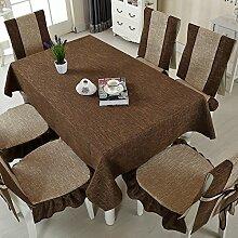 Taboeoe Lattice Tischdecke Flachs Stuhl Abdeckung Frische Und Einfache Tabelle Tuch Tuch, Tiefe Liebe, Tischdecke 90 * 90 Cm.