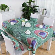 Taboeoe Neuen Stil Gedruckt Tischdecke Home Tischdecke Grün 140 X 100 Cm