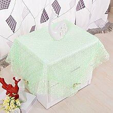 Taboeoe Pastorale Tischdecke, Tischdecke, Nachttisch, Tischdecke, Kaffee Tischdecke, Europäischen Stil High-End Spitze, Eis Grün, 90*90