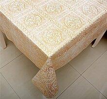 Taboeoe Pvc Wasserdicht Tischdecke Tuch Verfügbare Tabelle Tuch Heiß. ,005 Vergoldung, 136 * 250