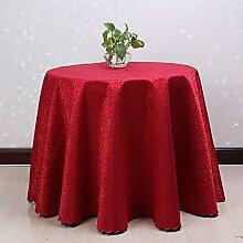 Taboeoe Red Hotel Tischdecke, Chinesische Klassische Hochzeit Tischdecke, Bankettsaal, Terylene, Rot, 200 Cm * 200 Cm