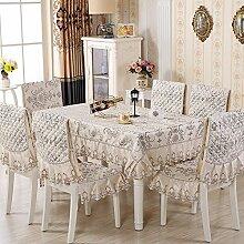 Taboeoe Stuhl Pad Sitzkissen Und Rückenlehne 130 * 180 Cm Europäischen Quilten, Gelb Tischdecke 130 * 180