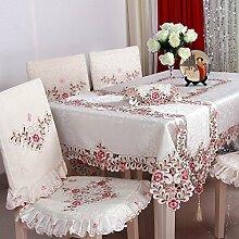 Taboeoe Tischdecke, Tuch, Kunst, Moderne Einfachheit, Home Tische, Tische Und Stühle, Bestickten Tischdecken, Rosa, Stuhl Zurück * Stuhl Pad