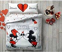TAC Bettwäsche Set Baumwolle 200x220 Minnie und