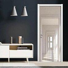 TACBZ 3D Türaufkleber Schlafzimmer Türen