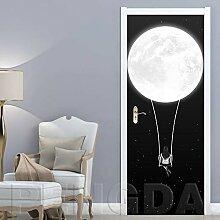 TACBZ Türposter Selbstklebend 3D Mond