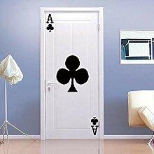 TACBZ Türposter Selbstklebend 3D Spielkarten
