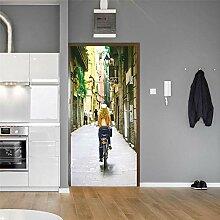 TACBZ Türposter Selbstklebend 3D Traum Liebhaber
