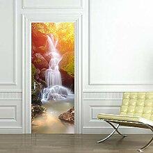 TACBZ Türposter Selbstklebend 3D Wasserfall