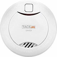 Tacklife SAH23 Klassischer Rauchmelder,10-Jahres-Rauchwarnmelder, 3V CR 17335 Lithium-Batterie ,1 Stück