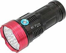Tactical Taschenlampe, KC Fire XM-L T69000Lumen tragbar Wasserfestes LED Searchlight, Handheld Strahler mit 3Modi für Außenbereich (Camping, Wandern, Radfahren)