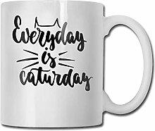 Täglich ist Caturday Fashion Coffee Cup Porzellan