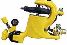 Tätowiermaschine RCA + Dual-Interface Munsu Hookline Tattoo Ausrüstung Professionelle Werkzeuge,Yellow