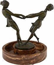 Tafelaufsatz mit Bronze-Skulptur von Andre