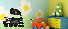 Tafelfolie Aufkleber für Gastronomie & Kinderzimmer Schultafelfolie St54-Zug