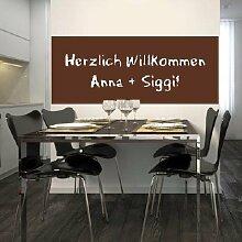 Tafelfolie Möbel- und Wandfolie 120x60 braun inkl. Kreide - Kreative Bastelideen für Kinder