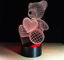 Tafellamp LED-Lampe des Liebesbären 3D berühren