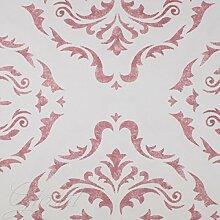 Tafelservice baumwollmeister Tischdecke Servietten 12Plätze Jacquard Pink giosal Rosa