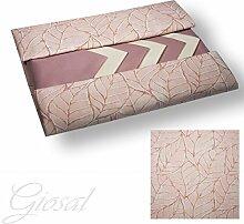Tafelservice Tischdecke Leaf Servietten 12Plätze Pink giosal Rosa