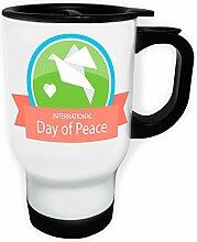 Tag-Frieden-Mit-Taube Weiß Thermischer