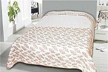 Tages-Decke XXL (220x240 cm) mit wattierter Zwischenlage, in verschiedenen gesteppten Patchwork Designs, Überwurf Steppbett (Design: Dream Time)