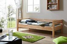 Tagesbett-Bett ROKSI Buche Massiv Natur Lackiert 90x200 cm