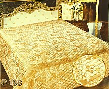 "Tagesdecke 108 ""Jacquard"" Gold Farbe 230 x"